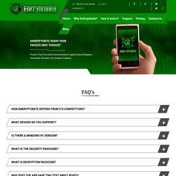 Encryptonite App - FAQs - Text Message Encryption & Encoding