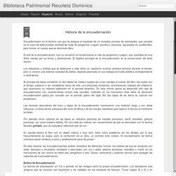 Biblioteca Patrimonial Recoleta Dominica: Historia de la encuadernación