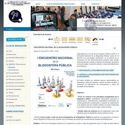 I ENCUENTRO NACIONAL DE LA BLOGOSFERA PÚBLICA