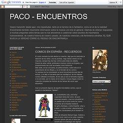 COMICS EN ESPAÑA - RECUERDOS