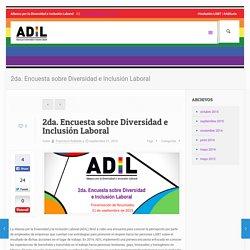 2da. Encuesta sobre Diversidad e Inclusión Laboral