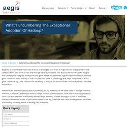 Encumbering The Exceptional Adoption Of Hadoop