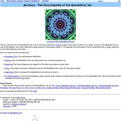 The Encyclopedia of the Mandelbrot Set at MROB