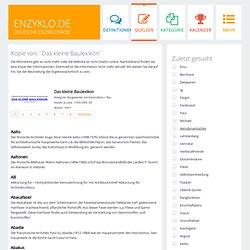 Encyclo - Das kleine Baulexikon