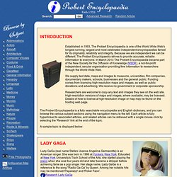 Probert Encyclopaedia - Dictionary, Online Encyclopedia, Online