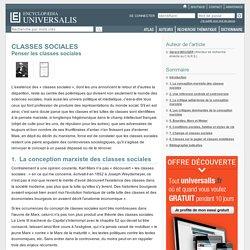 CLASSES SOCIALES - Penser les classes sociales