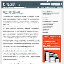CLASSES SOCIALES - La théorie de la lutte de classes