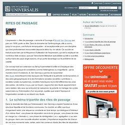 RITES DE PASSAGE