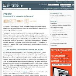 PRESSE - Économie de la presse écrite française