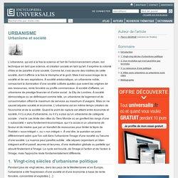 URBANISME - Urbanisme et société