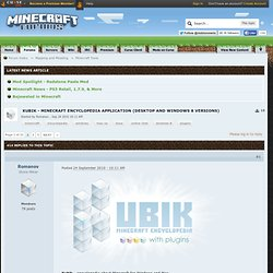 Kubik 1.6 - Minecraft encyclopedia application - Minecraft Forums