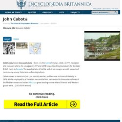 biography - Italian explorer