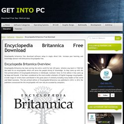 Encyclopedia Britannica Free Download