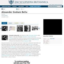 Alexander Graham Bell (American inventor