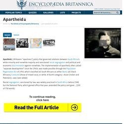 apartheid (social policy