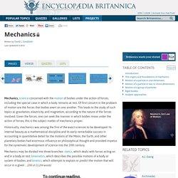 Mechanics (Physics)