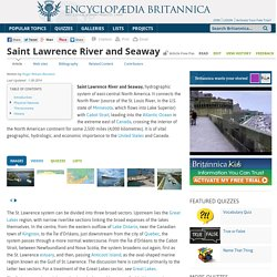 Saint Lawrence River and Seaway (river, North America)