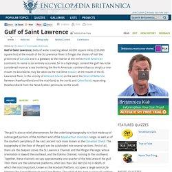Gulf of Saint Lawrence (gulf, Canada)