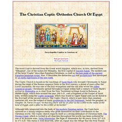 Encyclopedia Coptica: The Christian Coptic Orthodox Church Of Egypt