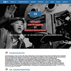 INTERNET ENCYCLOPEDIA OF CINEMATOGRAPHERS - HOME