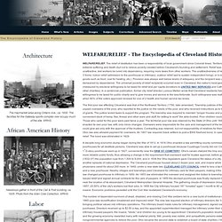 Encyclopedia of Cleveland History:WELFARE/RELIEF