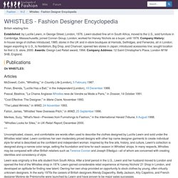 Whistles - Fashion Designer Encyclopedia - women, suits, shoes, style, new, body, history, footwear, collection