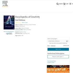 Encyclopedia of Creativity. Volume 1 + 2.