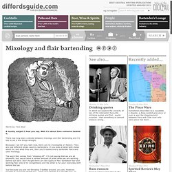 Mixology and flair bartending encyclopedia