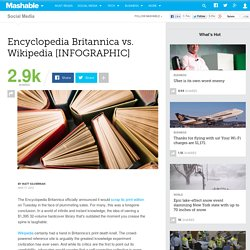 Encyclopedia Britannica vs. Wikipedia [INFOGRAPHIC]