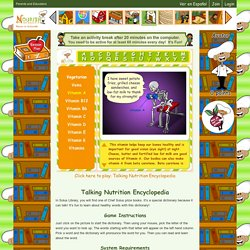 Fun Online Nutrition Encyclopedia for Kids- Food Words Facts, Talking Food Vocabulary Dictionary, Nutrition Vocabulary Information Language Game