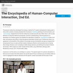 Personas: The Encyclopedia of Human-Computer Interaction, 2nd Ed.