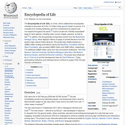 Encyclopedia of Life