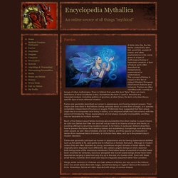 Faeries - Encyclopedia Mythallica