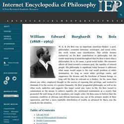 Du Bois, William Edward Burghardt