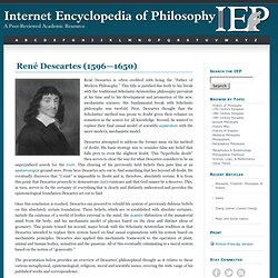 Descartes, René: Overview