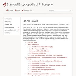 John Rawls (Stanford Encyclopedia of Philosophy)