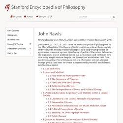 John Rawls (Stanford Encyclopedia of Philosophy)