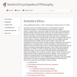 Aristotle's Ethics (Stanford Encyclopedia of Philosophy)