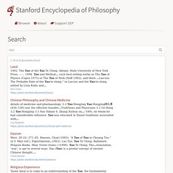Search (Stanford Encyclopedia of Philosophy)