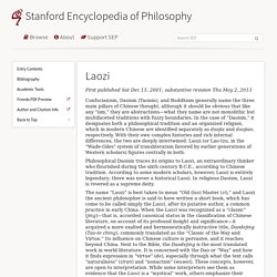 Laozi (Stanford Encyclopedia of Philosophy)