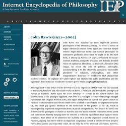 John Rawls [IEP]