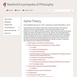 Game Theory (Stanford Encyclopedia of Philosophy)