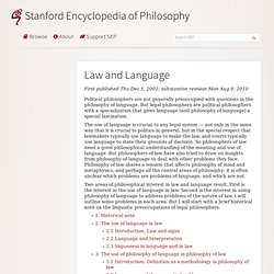 Law and Language