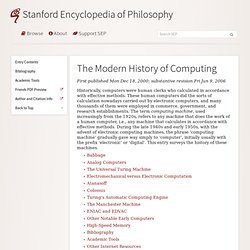 The Modern History of Computing