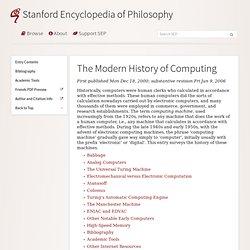 The Modern History of Computing