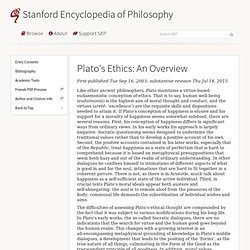 Plato's Ethics: An Overview