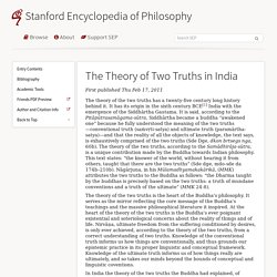 The Theory of Two Truths in India