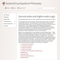Second-order and Higher-order Logic