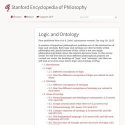 Logic and Ontology