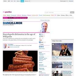 Encyclopedia Britannica in the age of Wikipedia
